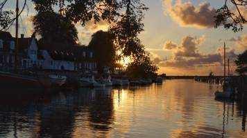 Sunset over Ribe Harbour
